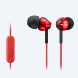 Auricolari con microfono Sony - MDR-EX110AP Rosso