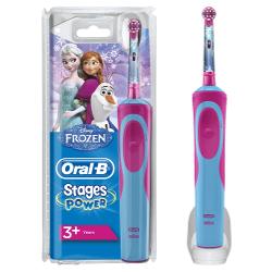 Spazzolino elettrico per bambini Braun - Vitality Stages Power Kids FROZEN Ricaricabile 1 Modalità spazzolamento