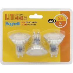 Lampadina LED BEGHELLI - LITELED.5 5W E14 GU10 Confezione 3 pezzi