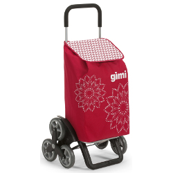 Borsa trolley GIMI - Tris Floral Rosso