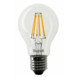 Lampadina LED BEGHELLI - FILAMENT LED GOCCIA 6W 2700°K Confezione 3 pezzi