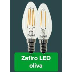 Lampadina LED BEGHELLI - FILAMENT LED OLIVA 4W 2700°K Confezione 4 pezzi