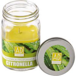 Candela Regalo Italiano - Candela Citronella in Vasetto di Vetro 6.5x11 cm
