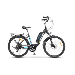 Bicicletta TekkDrone - Argento Bike Omega Ruote 26 pollici Nero, Blu