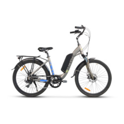 """Bicicletta TekkDrone - Bike Omega Elettrica, Argento, ruote 26"""""""