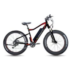 """Bicicletta TekkDrone - Fat Bike Elephant Nero-Rosso Ruote 26"""""""