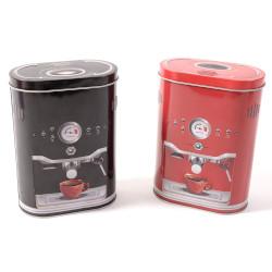 Barattolo MERCURY SRL - Barattolo Caffè in latta Coffe Time altezza 19 cm decori assortiti