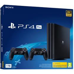 Console Sony - PS4 Pro 1TB Gamma + 2 DS4 V2 Nero 1000 GB Wi-Fi