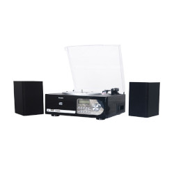 Mini Hi-Fi MAJESTIC - TT-38R CD Giradischi Cassetta USB SD Aux Nero