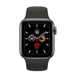 Smartwatch Apple - Watch Series 5 GPS 40mm Alluminio Grigio Siderale cinturino Sport Nero