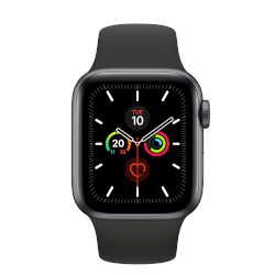 Smartwatch Apple - Watch Series 5 GPS+Cellular 44mm Alluminio Grigio Siderale cinturino Sport Nero