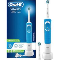 Spazzolino elettrico Vitality 170 CrossAction Spazzolino rotante oscillante Blu Bianco