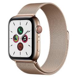 Smartwatch Apple - Watch Series 5 GPS+Cellular 44mm Acciaio Oro con loop maglia milanese oro
