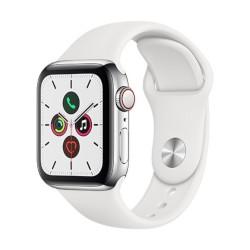 Smartwatch Apple - Watch Series 5 GPS+Cellular 40mm Acciaio con cinturino Sport Bianco
