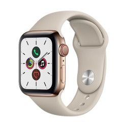 Smartwatch Apple - Watch Series 5 GPS+Cellular 40mm Acciaio oro con cinturino Sport Tortora