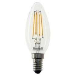 Lampadina LED BEGHELLI - Lite Led Oliva 4W 470LM E14 Confezione 5 pezzi