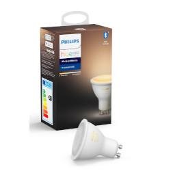 Lampadina LED Philips - Hue White Ambiance, Faretto LED Smart con Bluetooth, GU10