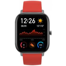 Smartwatch Amazfit - GTS  Grigio con cinturino in silicone Rosso