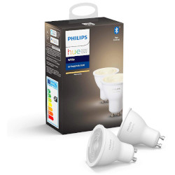 Faretto LED Philips - HUE WHITE 2 X LAMP GU10 5.5W