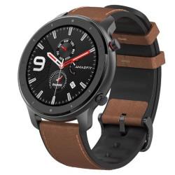 Smartwatch Amazfit - Amazfit GTR 47mm Cinturino in pelle marrone