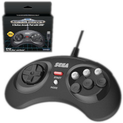 Controller Koch Media - Retro-Bit SEGA MD 8-Button USB Black 1038498