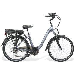 """Bicicletta elettrica BEBIKE - BeComfort L6S6-G ruote 26"""" Grigio"""