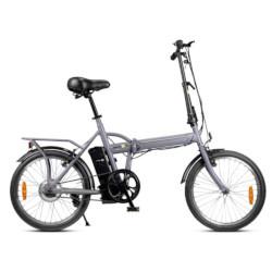 """Bicicletta pieghevole Smartway - F2-L04S2-G Ruote 20"""" Autonomia 20 Km Grigio"""
