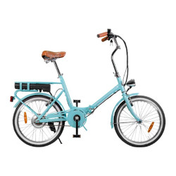 """Bicicletta elettrica Smartway - F3-LG4S2-A in Acciaio ruote 20"""" Turchese"""