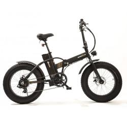 """Bicicletta Smartway - Monster Fat E-Bike Pieghevole ruote 20"""" Nera"""