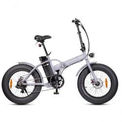 """Bicicletta elettrica Smartway - Monster Fat E-Bike Pieghevole ruote 20"""" Argento"""