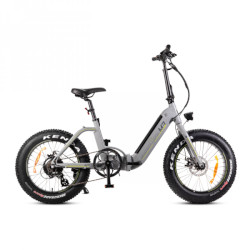 "Bicicletta elettrica Smartway - MONSTER BIKE PIEGHEVOLE M3 ruote 20"" Grigio"