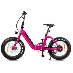 """Bicicletta elettrica Smartway - MONSTER BIKE PIEGHEVOLE M3 ruote 20"""" Rosa"""