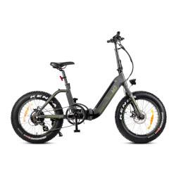 """Bicicletta elettrica Smartway - MONSTER BIKE PIEGHEVOLE M3 ruote 20"""" Titanio"""