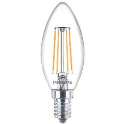 Lampadina LED Philips - Candle Filamento E14 4,3W 2700°K