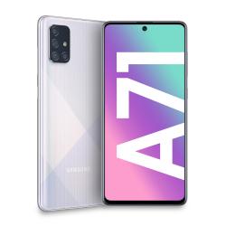 Smartphone Samsung - Galaxy A71 Prism Crush Silver 128 GB Dual Sim Fotocamera 64 MP