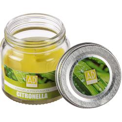 Candela Regalo Italiano - Candela Citronella Profumata in Barattolo di Vetro 6 cm