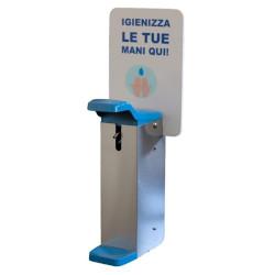 Dispenser Metodo - Dispenser a muro in acciaio inox per gel igienizzante