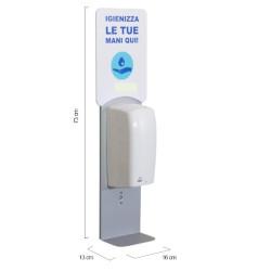 Dispenser Metodo - Dispenser 1 litro gel igienizzante/Sapone liquido a Muro