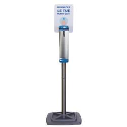 Supporto dispenser Metodo - Colonna dispenser per gel igenizzante Acciaio Inox + PVC