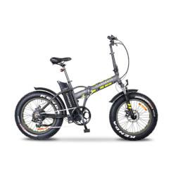 """Bicicletta Argento Bike - Mini Max - Telaio Alluminio - Ruote 20"""" - Velocità max 25km/h - Argento"""
