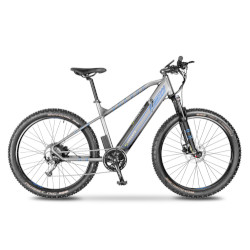 Bicicletta Argento Bike - Bike AB-PM-B20 Velocità 25 km/h Autonomia 80Km - Argento-Blu