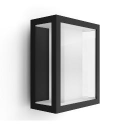 Lampada Philips - Hue White&Color Impress, Lampada smart da parete esterni, Nera