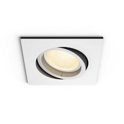 Lampadina LED Philips - Hue White & Color Centura, faretto smart da incasso, quadrato