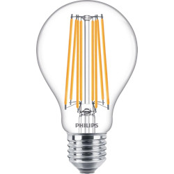 Lampadina LED Philips - Goccia Filament E27  Luce Fredda 4000°K 8,5W