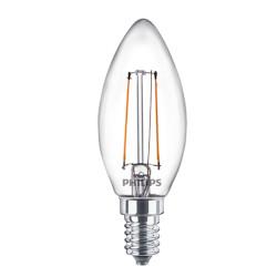 Lampadina LED Philips - Candela Filamento Luce Fredda 4000°K 2,2W E14