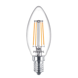 Lampadina LED Philips - Candela Filamento Luce Fredda 4000°K 4,3W E14