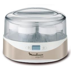 Yogurtiera Moulinex - Yogurteo Macchina per lo yogurt 7 vasetti 160 ml Bianco, Oro