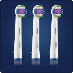 Testina di ricambio Braun - Oral-B 3D White 3 Pezzi