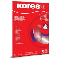 Carta KORES - Carta Carbone A4 - 20 fogli - Blu