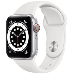 Smartwatch Apple - Watch Series 6 GPS+Cellular 40mm alluminio argento con cinturino sport bianco